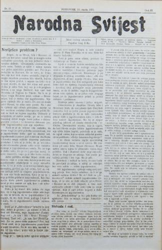 Narodna svijest, 1921/11