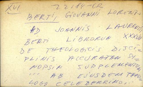 Ad Joannis Laurenti - dupli scan!!!