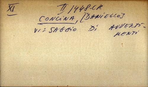 Concina, Daniello - uputnica