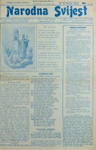Narodna svijest, 1931/4