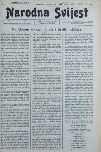 Narodna svijest, 1936/16