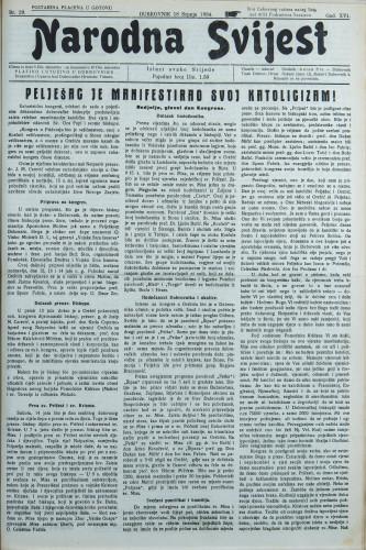 Narodna svijest, 1934/29