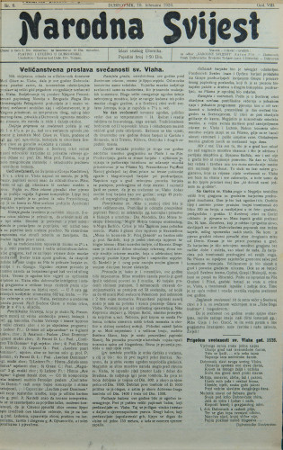 Narodna svijest, 1926/6