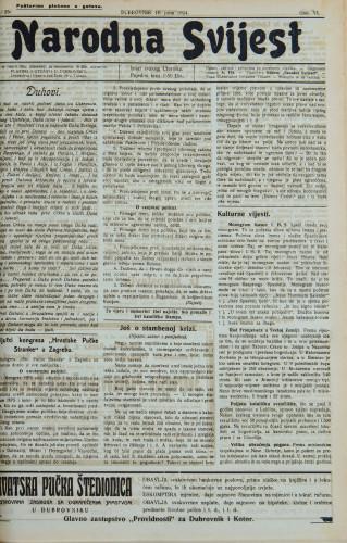 Narodna svijest, 1924/25