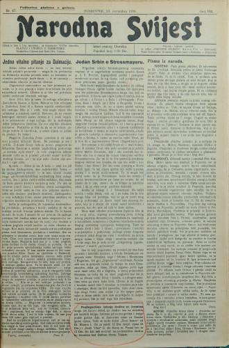 Narodna svijest, 1926/47