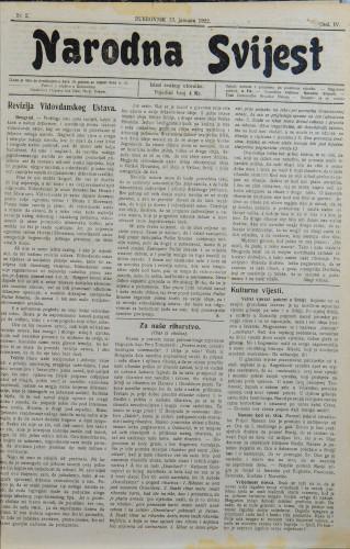 Narodna svijest, 1922/2