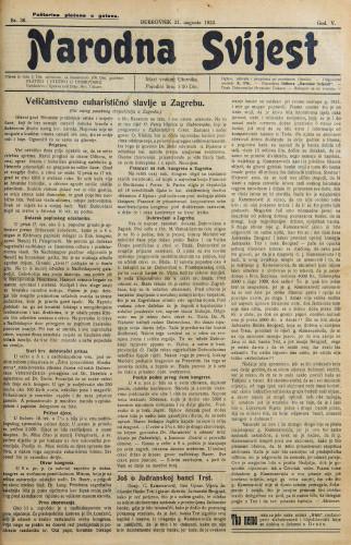 Narodna svijest, 1923/36