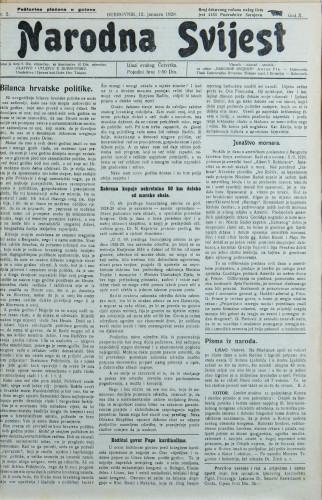 Narodna svijest, 1928/2