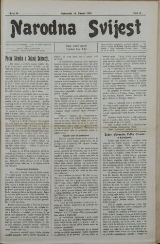 Narodna svijest, 1920/16