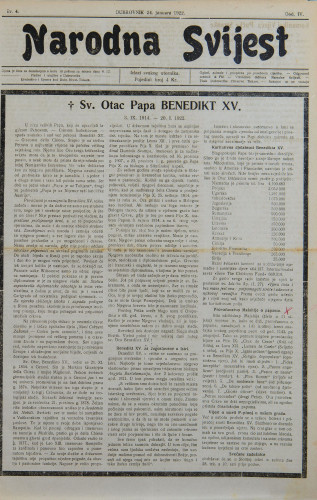Narodna svijest, 1922/4