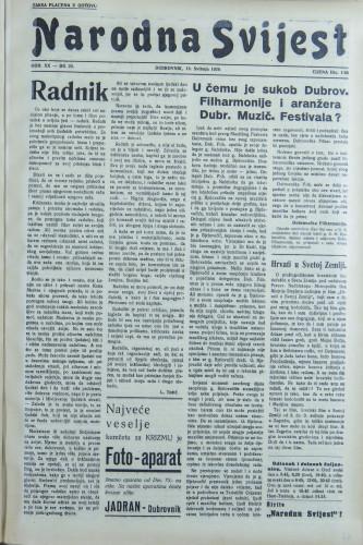 Narodna svijest, 1938/20