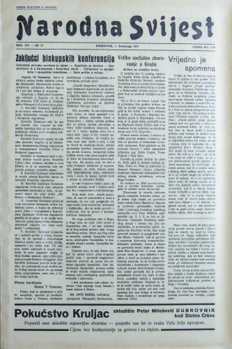 Narodna svijest, 1937/47