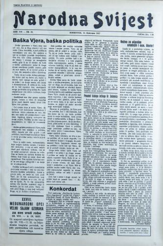 Narodna svijest, 1937/36