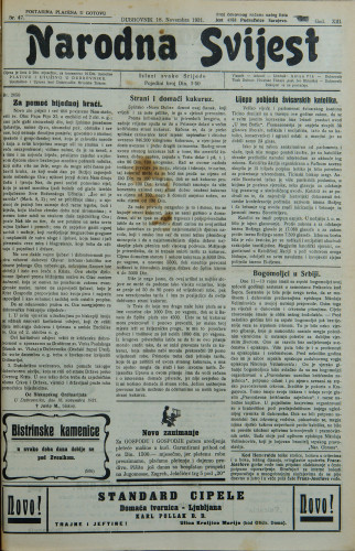 Narodna svijest, 1931/47