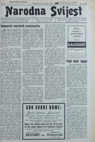 Narodna svijest, 1936/18
