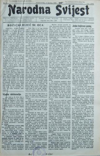 Narodna svijest, 1935/1