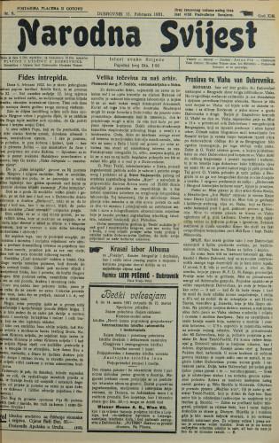 Narodna svijest, 1931/6