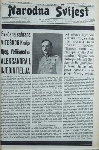 Narodna svijest, 1934/42