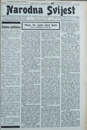 Narodna svijest, 1935/40