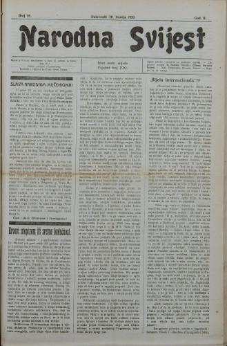 Narodna svijest, 1920/18