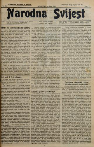 Narodna svijest, 1923/28