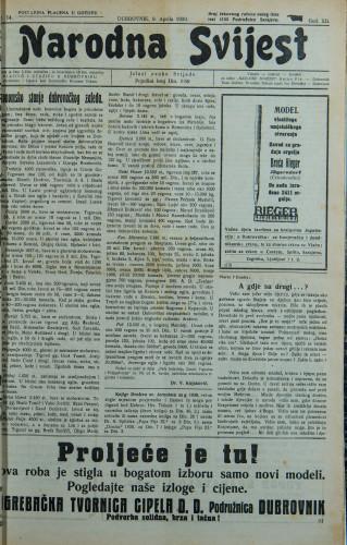 Narodna svijest, 1930/14