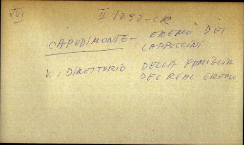 Capodimonte - Eremo dei Cappuccini - uputnica