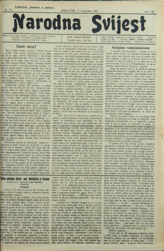 Narodna svijest, 1925/35