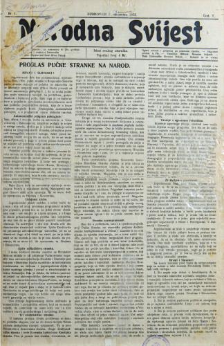 Narodna svijest, 1923/1