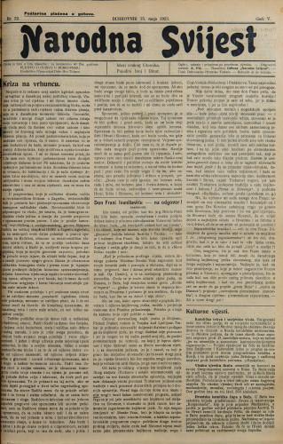 Narodna svijest, 1923/22