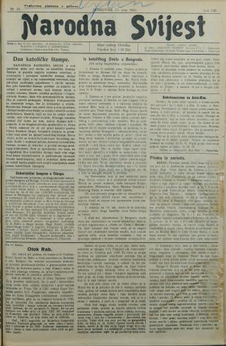 Narodna svijest, 1926/24