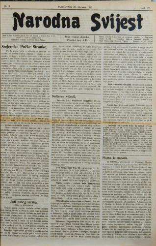 Narodna svijest, 1922/9
