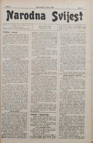 Narodna svijest, 1920/8