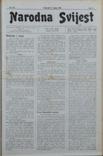 Narodna svijest, 1920/24