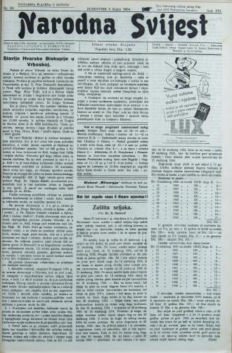 Narodna svijest, 1934/36