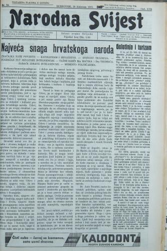 Narodna svijest, 1935/34