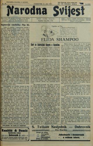 Narodna svijest, 1931/29