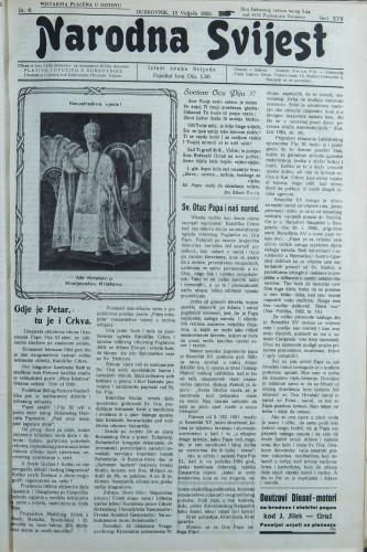 Narodna svijest, 1935/6