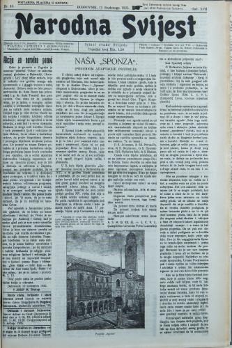 Narodna svijest, 1935/45
