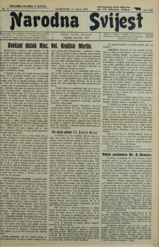 Narodna svijest, 1931/11
