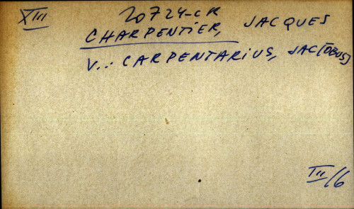 Charpentier, Jacques - uputnica