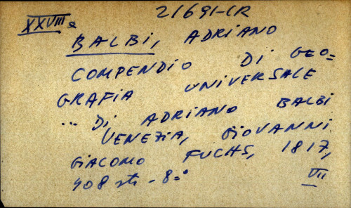 Compendio di geografia universale ... di Adriano Balbi