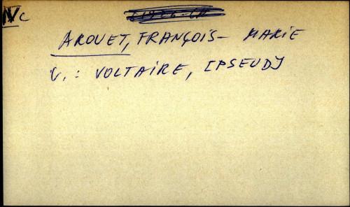 Aronet, Francois - Marie OPĆA UPUTNICA