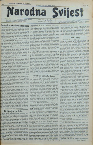 Narodna svijest, 1927/17