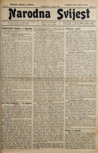 Narodna svijest, 1923/21