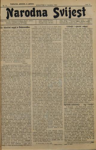 Narodna svijest, 1923/51