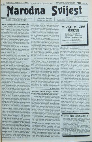 Narodna svijest, 1928/46