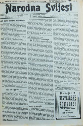 Narodna svijest, 1928/52