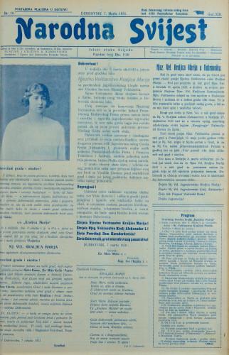 Narodna svijest, 1931/10