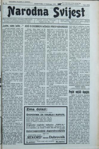 Narodna svijest, 1935/44